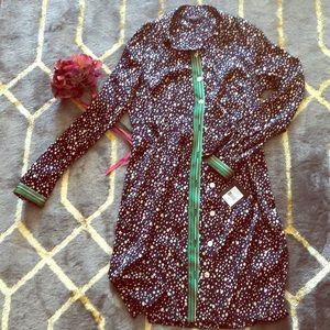 Nanette Lapore button down dress Size 8 NWT
